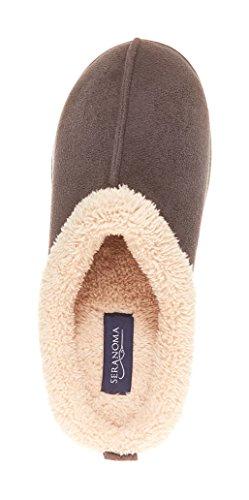 Seranoma Da Donna Comfort Faux Fur Slip On Memory Foam Ciabatte Da Casa Indoor Cls Snsl-grigio