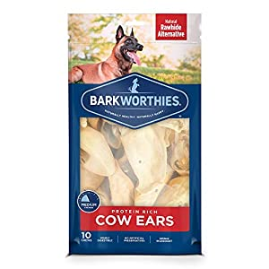 Barkworthies Protein-Rich Cow Ears (10 Chews) - All-Natural Rawhide Alternative - Highly Digestible Dog Chew - Gourmet, Healthy Dog Treats 109