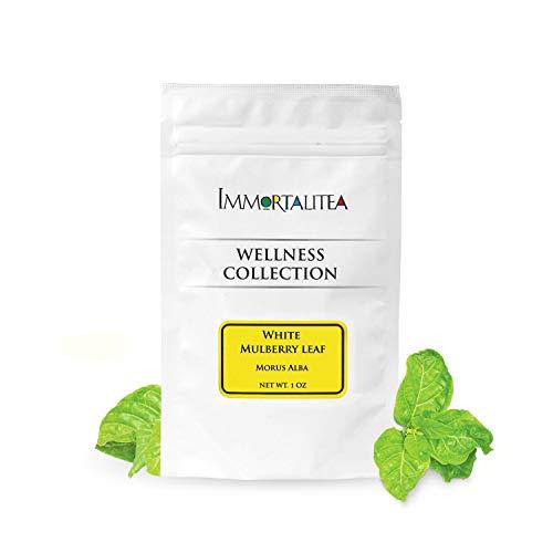 White Mulberry Tea - Loose Leaf - Blood Sugar Balance Herbal Tea - Pure Morus Alba - Caffeine-Free - 1 Ounce ()