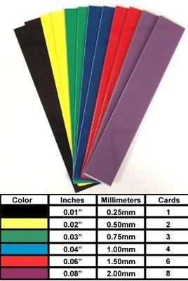 World Slat - Graduated Slat Set - 6 different gauges, 1 pair each (6