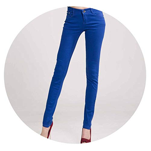 Women Pants Candy Jeans Spring Fall Pencil Pants Slim Casual Stretch Trousers ()
