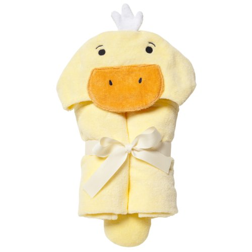 Elegant Baby Bath Time Gift Hooded Towel Wrap, Yellow Ducky (Ducky Bath Gift Time)