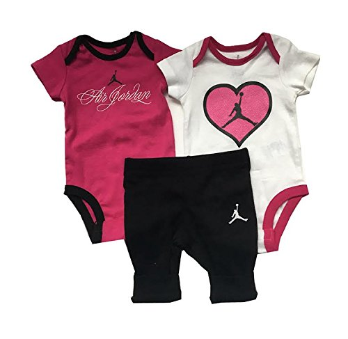 3pc Baby Girl Air Jordan Set (0-3 Months) (Jordan Box Shoe Air Nike)