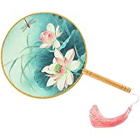 Elegant Hand Fan Aulic Circular Fan Chinese Fans Handheld Fan Mandarin Fan K