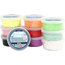 Foam Clay® Surtido, colores variados, purpurina, 10 x 35 g