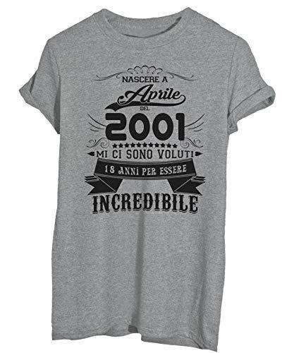 Nato Ad Aprile shirt 2001 Compleanno Per T Essere Incredibile Grigio 2019 Image 18 Anni Del Eventi x5RnwIUqXY