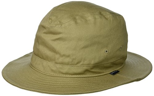Brixton Men's Ronson Quilted Short Brim Cotton Fedora Hat, Khaki, XL