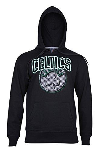 NBA Mens Fleece Hoodie Pullover Sweatshirt Primo Metallic, Black – DiZiSports Store