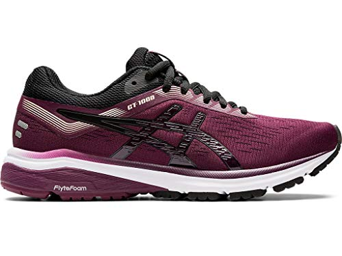 ASICS Women's GT-1000 7 Running Shoes, 7M, Roselle/Black