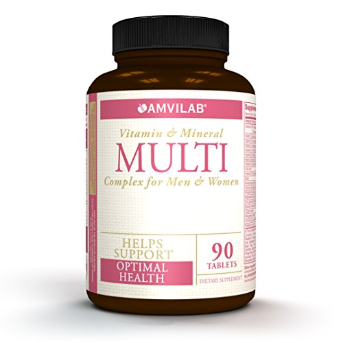 Multi – Daily Multivitamin Complex for Women and Man, with All Essential Vitamins, Herbal Ingredients, Mineral, Enzymes & Probiotic. One Month Supply.