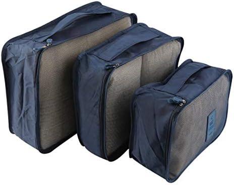 Vige 6 Teile/Satz Tragbare wasserdichte Kleidung Aufbewahrungstasche Verpackung Cube Reisegepäck Organizer Durable Kleidung Socke BH Aufbewahrungstasche