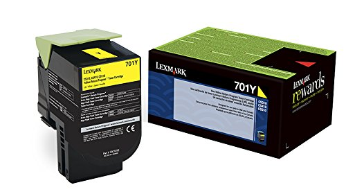 Lexmark 70C10Y0 Yellow Return Program Toner