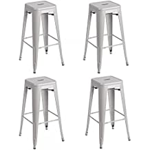 Metal Frame Tolix Style Bar Stool Industrial Chair