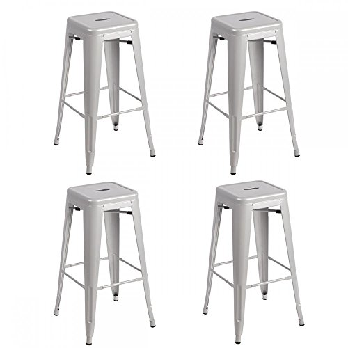 Metal Frame Tolix Style Bar Stool Industrial Chair (And Stools Chairs Bar)