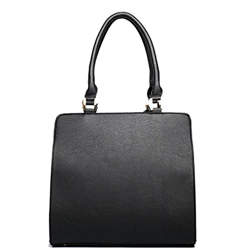 Tote Black Shoulder Style Black Celebrity Handbags Designer Bags Leather Women's Bags Od4ZwUqZ