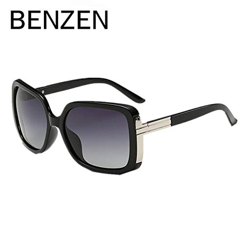 Black Polarized Sunglasses Women Female Sun Glasses for Driving UV 400 Shades Black with Box 6131  (Lenses color  Purple)