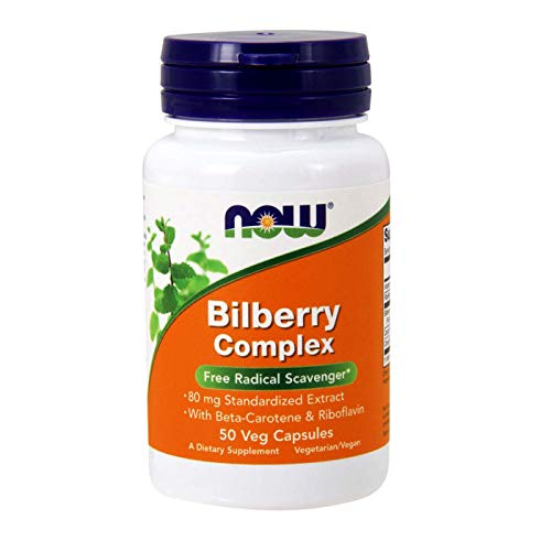 Now Foods Bilberry Complex 80mg - 50  Veggie Caps(2 ()