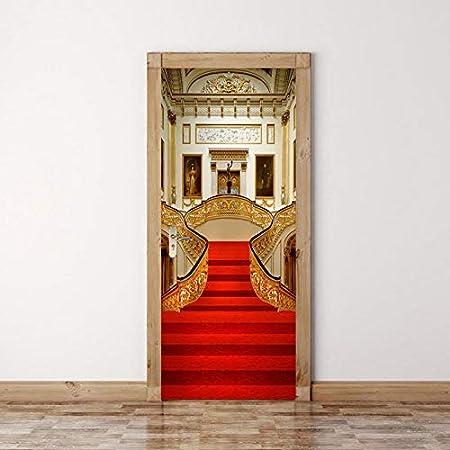Chambre À Coucher Rouge Auto-Adhésive De Tapis 3D Par Des ...