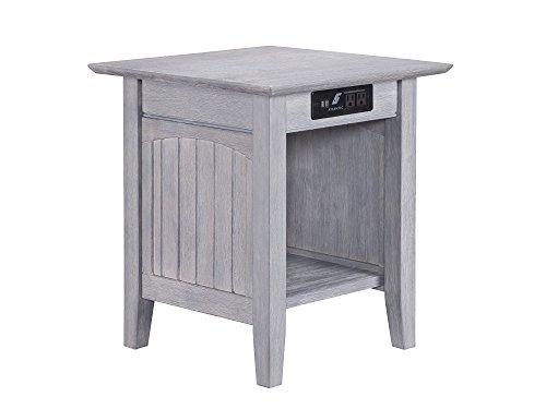 """Atlantic Furniture AH14318 Charger Nantucket End Table 20"""" x"""