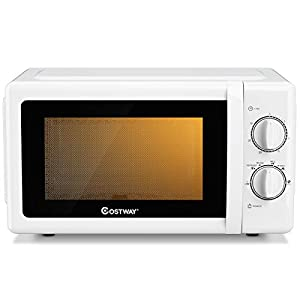 COSTWAY Retro Countertop Microwave Oven, 0.7 Cu. Ft, 700W Mechanical Compact Microwave Oven 6 Micro Power Settings… 5