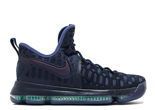 Nike Zoom KD 9, Scarpe da Basket Uomo Obsidian, Dk Purple-dust-black