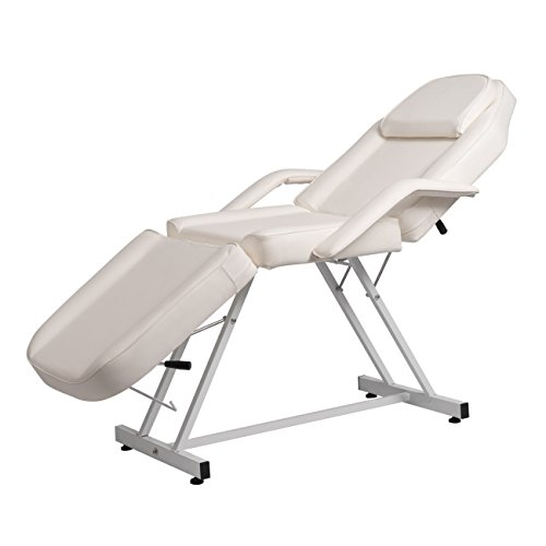BELLAVIE Massage Facial Bed Adjustable Table Chair Beauty Spa Salon Tattoo Beauty, White from Bellavie