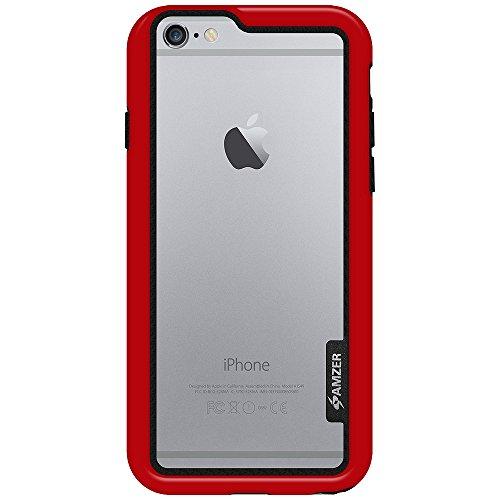 Amzer Cadre de Coque pour iPhone 6Plus–Rouge