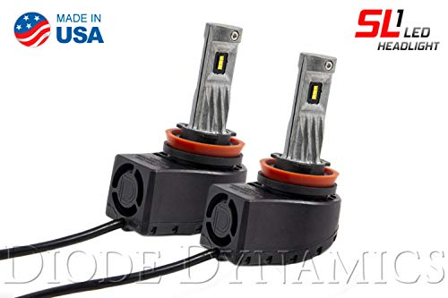 H11 SL1 Cool White LED Headlight Bulbs (pair)
