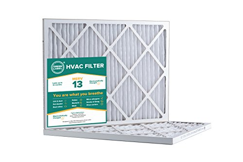 Green Label HVAC Air Filter 16x20x1, AC Furnace Air Ultra Cleaning Filter MERV 13 - Pack of 2