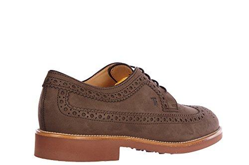 Tod's chaussures à lacets classiques homme en cuir derby bucature marron