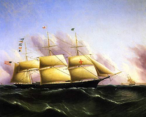 James E. Buttersworth Ship Dreadnought 1853 Peabody Essex Museum 30