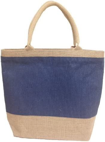 Beach Bag Jute Hessian Colourful Summer bag Natural /& Eco Friendly Bags