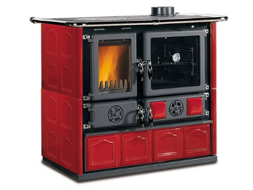 Wood Burning Cook Stove La Nordica U0026quot;Rosa Maiolica Bordeauxu0026quot;, ...