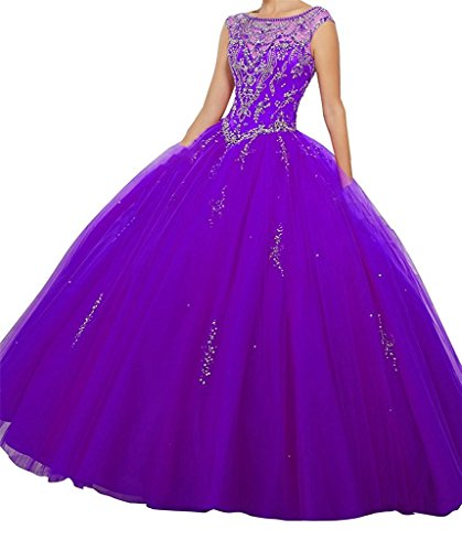 7160fef9c3 Junguan Womens Scoop Beaded Bodice Floor Length Ball Gowns Quinceanera Dress.  https   images-na.ssl-images-amazon.com