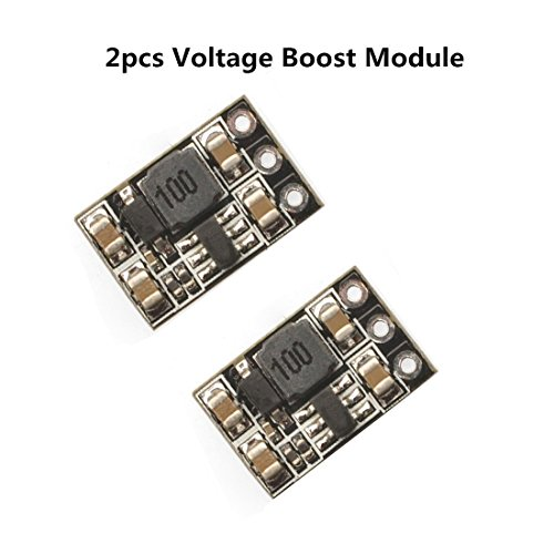 Lipo Battery Voltage (Crazepony 2pcs 500MA 1S Voltage Step Up Boost Module 3.7V in 5V out for Blade Inductris Lipo Battery)