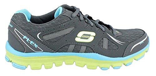 Sneakers Dathlétisme Féminines Unbechound Anthracite / Bleu