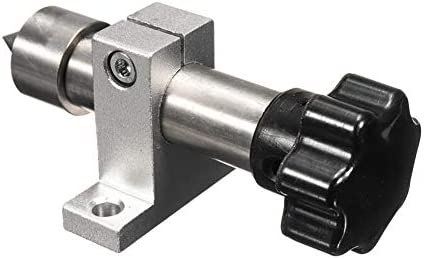 Work Tool Milling Cutter Woodworking Turning Tool Miniature Lathe with Adjustable Double-Bearing Center of Active Rotation
