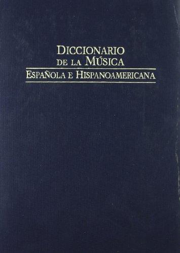Descargar Libro Diccionario De La Musica Española E Hispanoamericana 7 Emilio Casares Rodicio