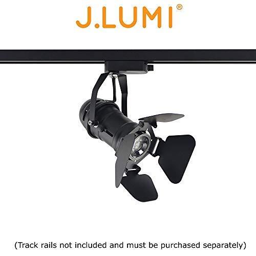 J.LUMI TRK9601 LED Track Light Head, Vintage Industrial Light, Track Lighting for Art, Track Lighting for Wall, Retail Track Lighting, Commercial Track Head, Compatible Rail RAL3002 (not Included)