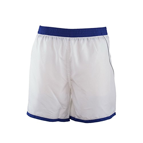 Just Cavalli Men White Blue Trim Surfer Shorts Beach Swim Trunks Light Swimsuit XL