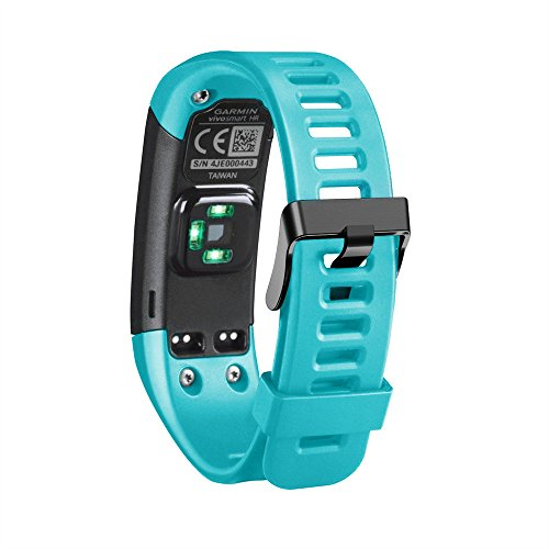 YaidaNew Replacement Soft Silicone Bracelet Strap Wristband for Garmin Vivosmart HR (Mint - Butterfly Two Tone Brooch
