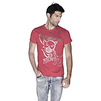 Creo Catwoman Poster T-Shirt For Men - M, Pink