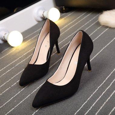 Profondes Talons De Femmes black Talons Profonde Fine Peu Bouche Peu Fait Heels Bouche L'Occupation Chaussure De ZHUDJ La qxRwXSzH1X
