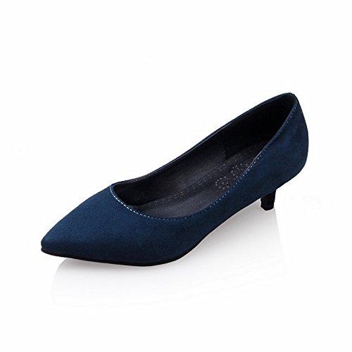 Balamasa Dames Laag Uitgesneden Bovendeel Micro-pumps Met Puntige Aantrekking-schoenen Blauw