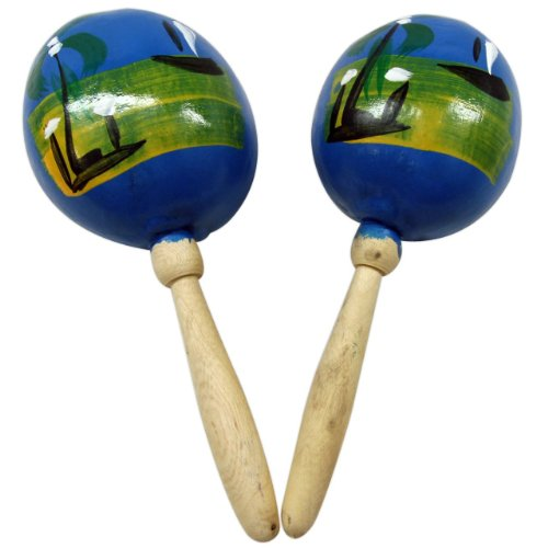 Salsa Maracas (Wood Maracas - Various Colors)