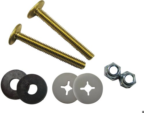 Kissler & Company Inc. 68-9138 Closet Bolt Set, Solid Brass