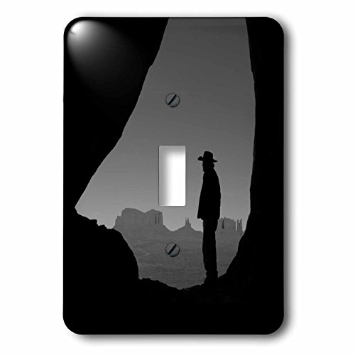 Teardrop Monument - 3dRose Danita Delimont - People - Navajo Indian Guide, Teardrop Arch, Monument Valley, Arizona, USA - Light Switch Covers - single toggle switch (lsp_258740_1)
