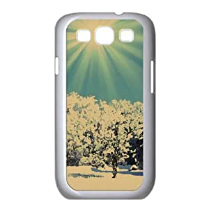 Sunny Winter Day Watercolor style Cover Samsung Galaxy S3 I9300 Case (Winter Watercolor style Cover Samsung Galaxy S3 I9300 Case)