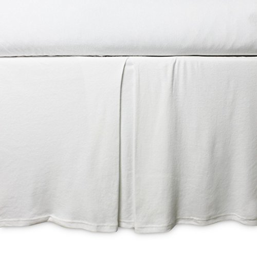 Burt's Bees Baby - Crib Skirt, Solid Color, 100% Organic Cotton Crib Skirt for Standard Crib and Toddler Mattresses (Cloud) by Burt's Bees Baby