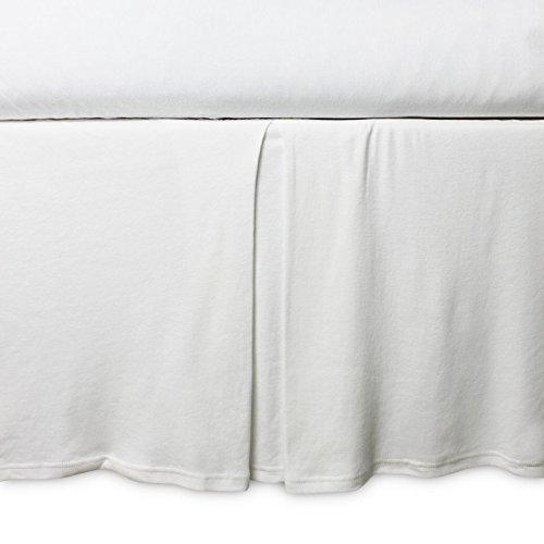 Burt's Bees Baby - Crib Skirt, Solid Color, 100% Organic Cotton Crib Skirt for Standard Crib and Toddler Mattresses (Cloud)